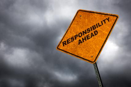 responsibility warning sign